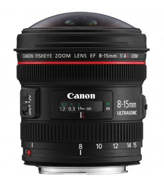 Objetiva Canon EOS EF 8-15mm F4.0 L USM Fisheye