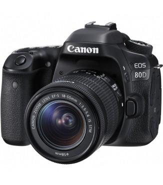 Camera Canon EOS 80D com Objetiva 18-55mm F3.5-5.6 IS STM - 24.2 Megapixels