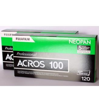 Filme FujiFilm 120 Neopan Acros 100 Preto e Branco ISO 100 - Pack com 10 Unidades