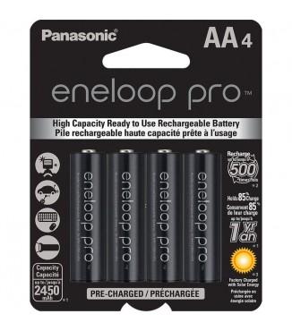 Pack Panasonic Eneloop com 4 Baterias AA de 1.2V - 2450mAh Níquel Metal Hidreto