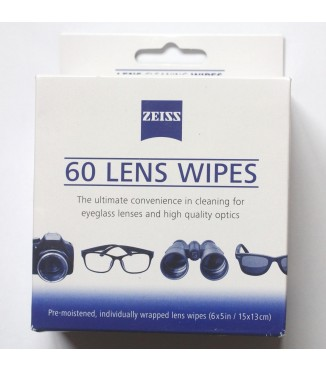 Pack Zeiss com 60 Lenços de Limpeza Umedecidos