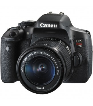 Camera Canon EOS Rebel T6i com Objetiva EF-S 18-55mm F3.5-5.6 IS STM - 24 Megapixels