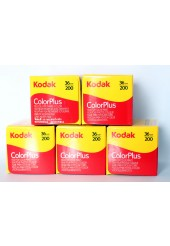 Filme Kodak 35mm Color Plus 200 Colorido 36 poses ISO 200 - Pack com 5 Unidades