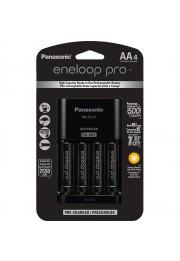 Carregador Panasonic Eneloop PRO BQ-CC17 com 4 Baterias AA de 2550mAh