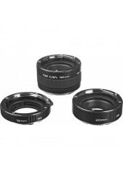 Kit com 3 Tubos de Extensão Kenko DG para Objetiva Canon EF/EFS