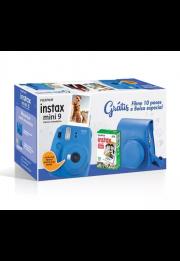 Câmera Instantânea Fujifilm Instax Mini 9 - Azul Cobalto + Estojo + Filme