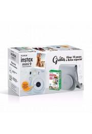 Câmera Instantânea Fujifilm Instax Mini 9 - Branca + Estojo + Filme
