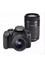 Kit Câmera Canon EOS Rebel T6 com 18-55mm F3.5-5.6 + 55-250mm F4.0-5.6 IS- 18 Megapixels