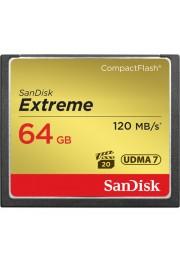 Cartão de Memória Sandisk Compact Flash Extreme UDMA 7 de 64GB - 120mb/s 800x