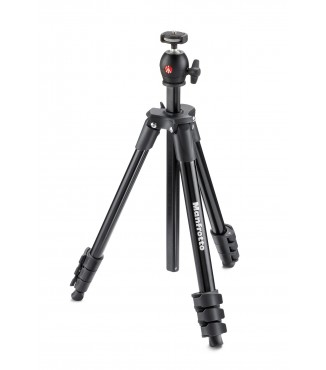 Tripé Manfrotto Compact Light com Ball Head MKCOMPACTLT-BK
