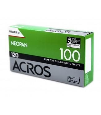 Filme FujiFilm 120 Neopan Acros 100 Preto e Branco ISO 100 - Pack com 5 Unidades