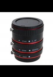 Kit com 3 Tubos de Extensão para Objetiva Canon EF/EFS