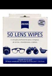 Pack Zeiss com 50 Lenços de Limpeza Umedecidos